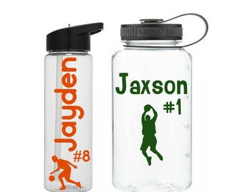 Basketball Water Bottle, Personalized Sports Bottle, Basketball Lover Gift, Basketball Team Gift, School Sports Bottle, Basketball Tumbler