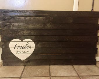 Pallet Wood Guest Signature Board
