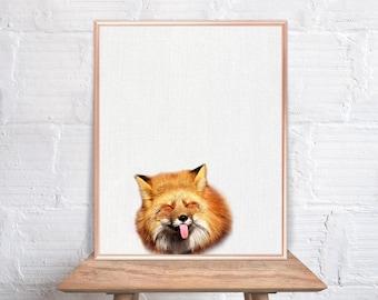 Fox wall art / Fox home decor / Fox Print / Fox / Fox Art / Fox Wall Decor / home decor Fox #80