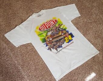 Vintage 1990s Jeff Gordon #24 Dupont Chromalusion NASCAR T Shirt