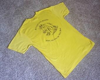Vintage 1980s Arabian Horse T Shirt