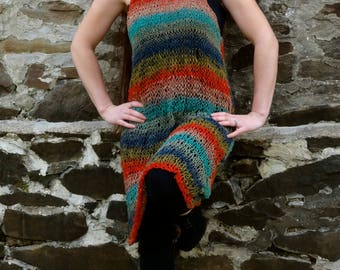 Hand Knit Multicolored Dress