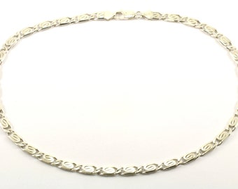 Vintage Italy Scroll Design Chain Necklace 925 Sterling NC 517-E