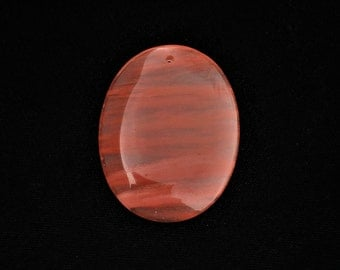 Fire Cherry Quartz Oval Volcano Quartz Translucent Pink Clear Focal Pendant Bead 49x38x6mm