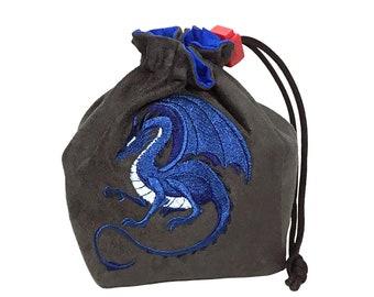 Dice Bag - Fantasy Blue Dragon