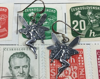 Silver Plated Petite Fairy Earrings by Ten Dollar Studio where all items are always Ten Dollars