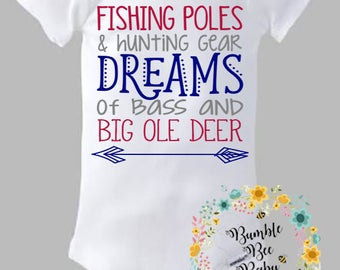 Fishing Poles, Hunting Gear, Bass, Deer, Perfect For Daddy's Little Man (Can Customize for Girl as Well)
