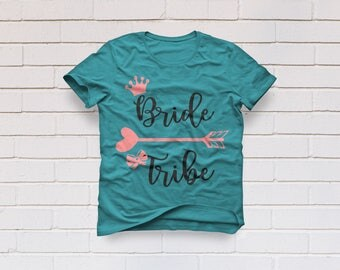 Bridal party shirt, Bride tribe svg, Bridesmaid gift svg, Wedding svg, Bride squad svg, Cricut, Cameo, Cut file, Clipart, Svg, DXF, Png, Eps