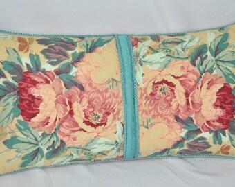 Lumbar Accent Pillow - Decorative Floral Pillows - Rectangle Accent Pillow