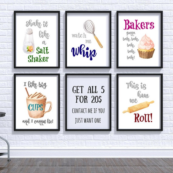 Quirky Kitchen Wall Art