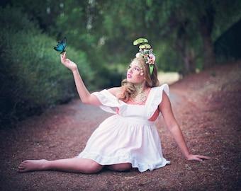 Fairy toadstool crown, whimsical headpiece, woodland headband, hummingbird headband