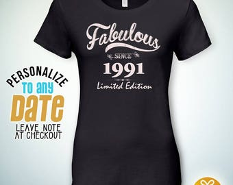 Fabulous since 1991, 27th birthday gifts for Women, 27th birthday gift, 27th birthday tshirt, gift for 27th Birthday,