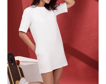 T-Shirt Dress with zip back