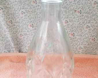 """Clear Glass Liquor Decanter / Bottle 8.5"""" Tall"""