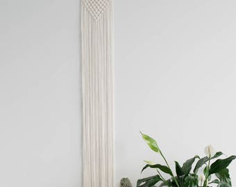 Macrame Wall Hanging on Brass-finish Hoop