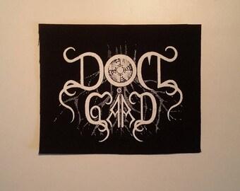 Domgård Domgard patch white logo black metal
