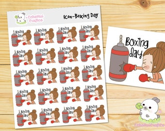 Boxing Day Kawaii Icon Planner Sticker