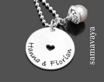 Bridal jewelry AROUND MY HEART Lyho 925 Silver chain to the wedding partners jewelry