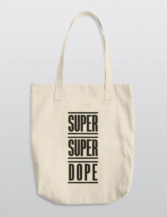 SUPER SUPER DOPE | La Apparel E549 Bull Denim Woven Cotton Tote