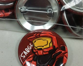 """Red Vs Blue - Sarge - 1.5"""" Pin"""