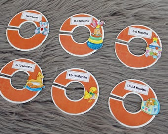 Orange baby nursery theme baby closet dividers for baby nursery or baby shower gift