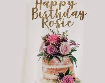Personalized birthday cake topper, happy birthday cake topper personalized, birthday cake topper, custom birthday cake topper, birthday