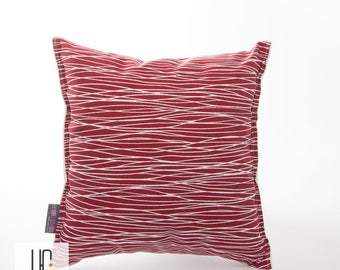 Cushion cover LINES red and white