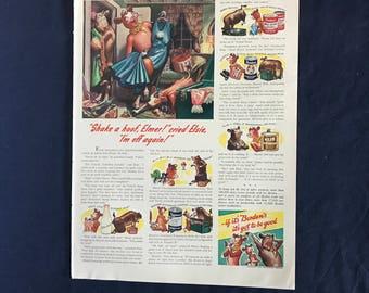 Vintage Borden's Milk Products Ad