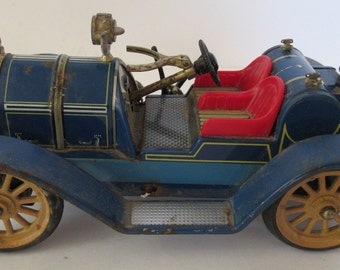 Vintage Schuco Mercer 1913 Type 35 J Blue Touring Car
