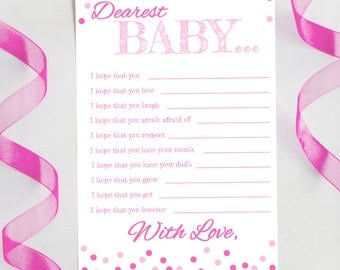 "Baby Shower Game | ""Dearest Baby"" Game 