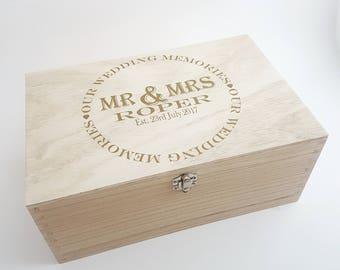 Personalised wedding keepsake box, memory box, wedding gift, Mr and Mr, Mrs and Mrs, Mr and Mrs