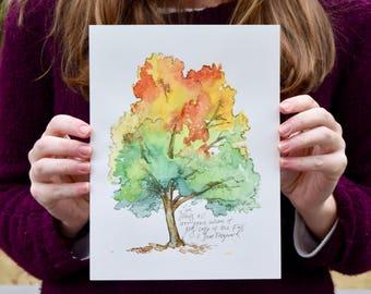 Colors of Autumn - Watercolor Art Print