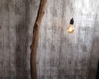 Standing lamp (Led/dimmer) of old Oak wood