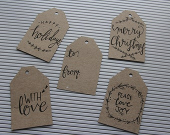 Hand Drawn On Christmas Tags