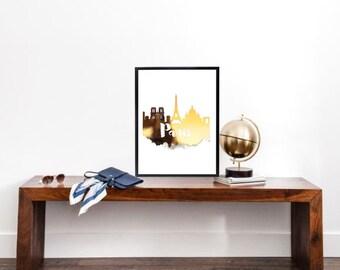 Paris Gold Foil Print