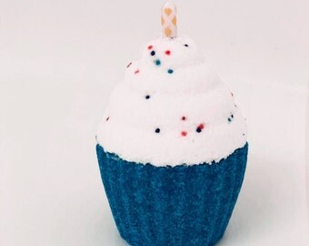 Vanilla Birthday Suit Cupcake Bath Bomb