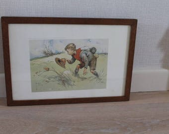 On the Stalk/ Lawson Wood Print/ Boy Scout/ Art & Collectables/ Vintage Prints/Home Decor (0025G)