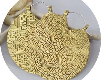 Serpentine Medallion Earrings