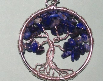 Sale. Tree of Life Necklace  Pendant with Artistic Wire Silver  Plated. Tarnish Resistant Silver