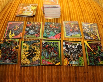 Marvel Universe Trading Card Set CARDS 1993 SKYBOX Spider Man SPIDERMAN Venom The Punisher Todd McFarlane 1990s Comic Book Comics Art
