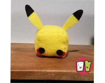 Pikachu Pokemon Cube Plushie - 2 Inch Felt Cube