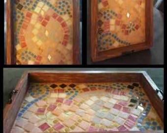 Mosaic Tile Serving Tray