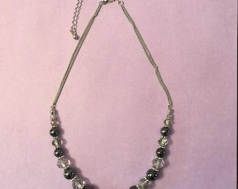 Black beaded Women's Necklace