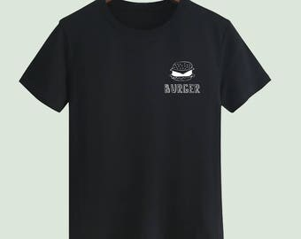 Small Logo burger Unisex T shirt T Shirts For Men T Shirts For Women mens t shirt T Shirt For Youth Street T-shirts Customize Gift T Shirt
