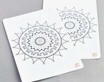 Love mandala full A5 page coloring planner sticker