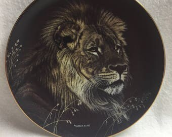 Hamilton Collection Collector Plate - Nature's Majestic Cats - 'African Lion' (#153)