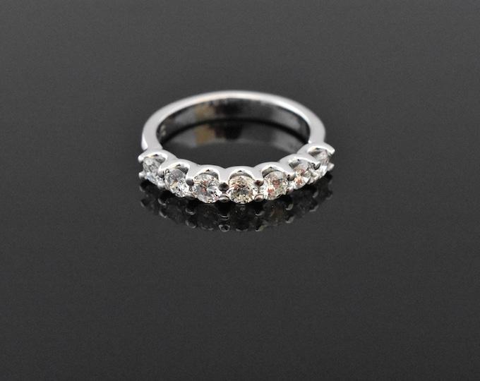 14K White Gold 7 Stone Ring