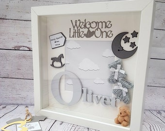 Personalised Baby Frame | Letter Frame | Baby Frame | Baby Gift |Christening Gift | Baby Boy | Baby Girl | Keepsake Box | Nursery Decor