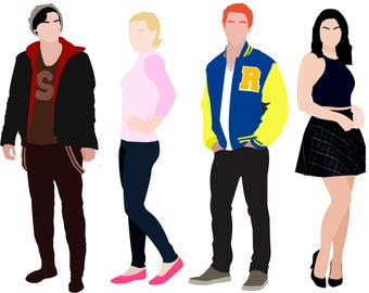 COMING SOON: Riverdale The Core four A5 sticker sheet | Bughead | Jughead Jones Archie Andrews Betty Coopper Veronica Lodge Bughead crown