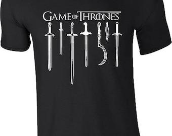 Game Of Thrones Swords T Shirt Stark Targaryen Lannister War Is Coming Gift Mens Unisex Top